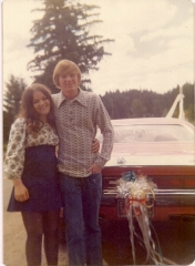 1973 Newlyweds Speed Off in the Challenger
