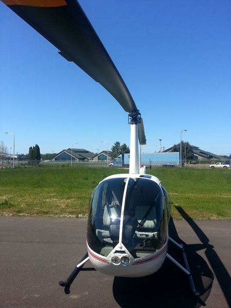 Robinson R44 with bubble windows