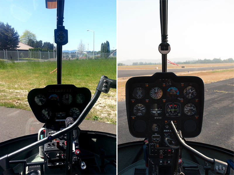 Robinson R44 cockpit comparison