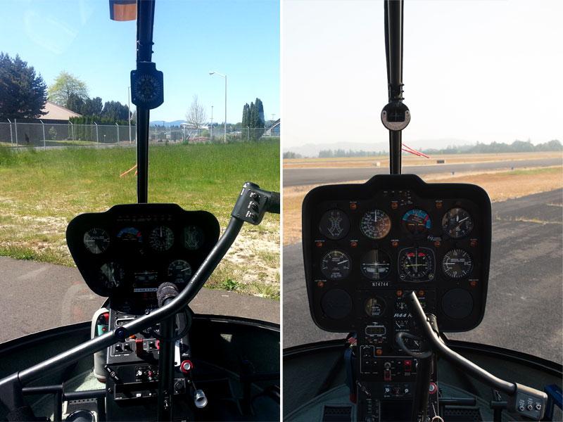 Robinson R44 cockpit comparison
