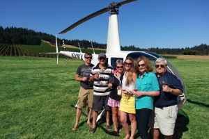 helicopter wine tasting tour oregon mcminnville stoller dundee hills family