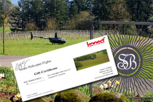 helicopter tours gift certificate
